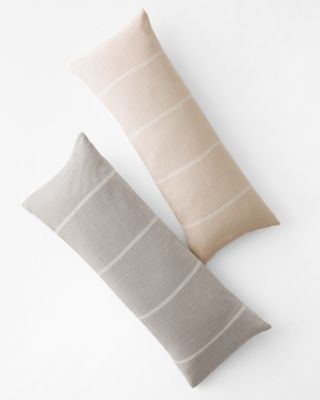 EILEEN FISHER Organic-Cotton Gauzy Stripe Pillow Cover