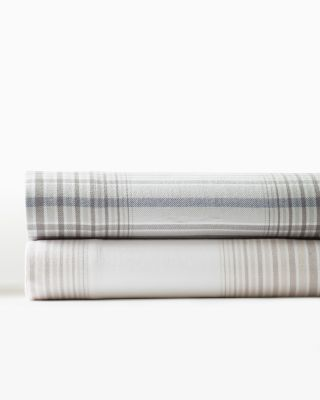 Plaid Cotton Supima Flannel Sheets