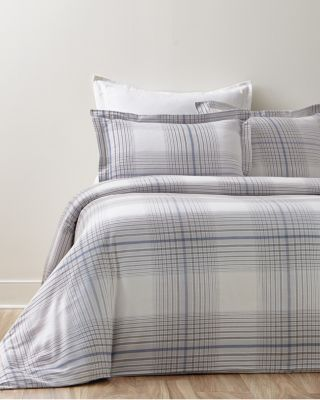 Plaid Supima Flannel Duvet Cover