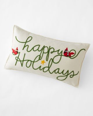 Hable Happy Holidays Pillow Cover
