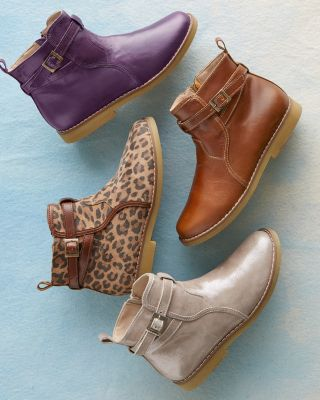 Girls' Wrap-Around Buckled Booties by Elephantito