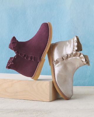 Girls' Ruffle Ankle Booties by Elephantito