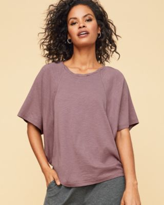 Draped Batwing Organic Cotton Tee