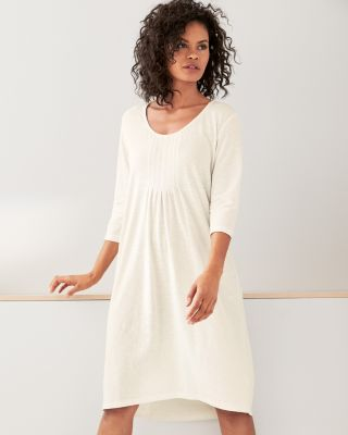 Organic-Cotton Pintucked Knit Nightgown