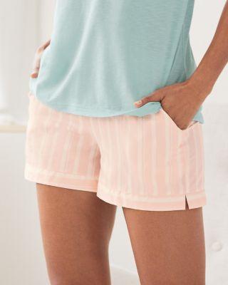 Women's Sateen Pima Cotton Sleep Shorts