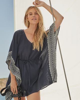Boho Embroidered Cotton Kaftan Cover-Up