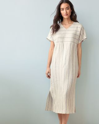 NEW EILEEN FISHER Organic-Linen Caftan Gown