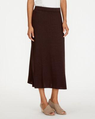 EILEEN FISHER Fine TENCEL-Jersey Midi Flare Skirt