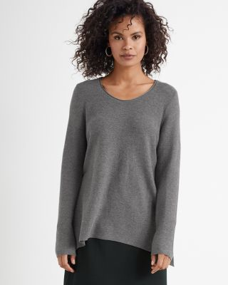 EILEEN FISHER Organic-Cotton & Silk Scoop-Neck Sweater