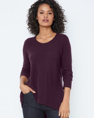 EILEEN FISHER Organic-Cotton & Silk Scoop-Neck Sweater Petite