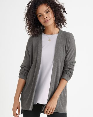 EILEEN FISHER Organic-Cotton & Silk Simple Cardigan Sweater