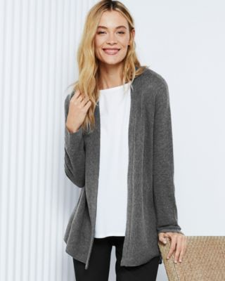 EILEEN FISHER Organic-Cotton & Silk Simple Cardigan Petite