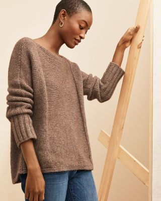 EILEEN FISHER Alpaca & Organic-Cotton Dolman-Sleeve Sweater -