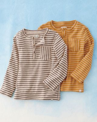 Boys' Long-Sleeve Henley Shirt