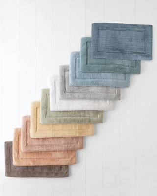 Plush Cotton & Memory-Foam Bath Rug
