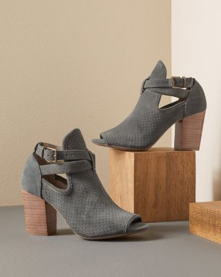 Cordani Concha Peep-Toe Suede Shoes