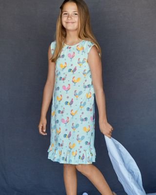 Girls' Signature Flutter-Sleeve Nightgown