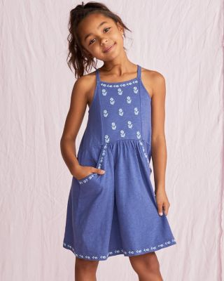 Girls' Organic-Cotton Mini-Strap Sundress