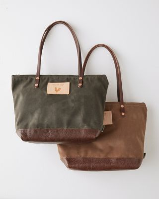 Canvas Zip-Top Tote Bag by Meanwhile Back On The Farm