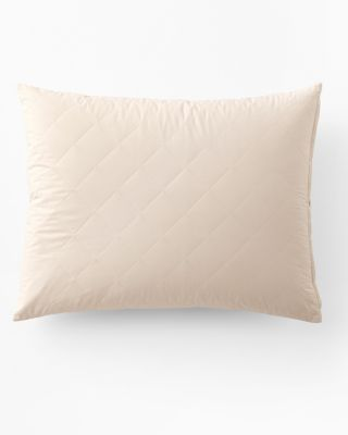 Organic-Cotton Quilted Pillow Protector