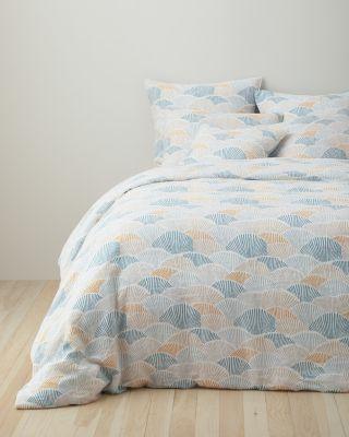 Garnet Hill Relaxed-Linen Marin Duvet Cover