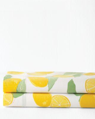 Lemons Organic-Cotton Percale Sheets
