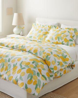 Lemons Organic-Cotton Percale Sham