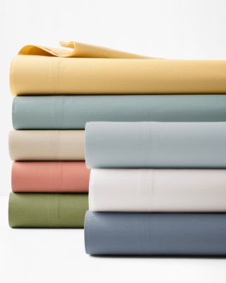 Solid Siesta Washed-Organic-Cotton Percale Sheets