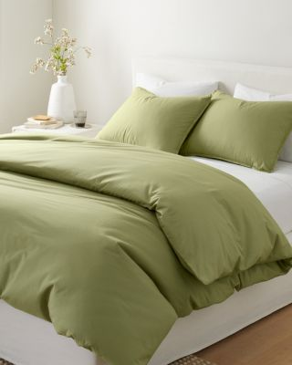 Solid Siesta Washed-Organic-Cotton Percale Duvet Cover