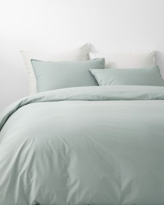 Solid Siesta Organic-Cotton Percale Duvet Cover