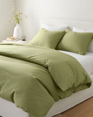 Solid Siesta Washed-Organic-Cotton Percale Sham
