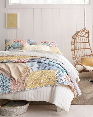 Camille Hand-Quilted Cotton Quilt
