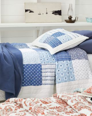 Indigo Blue Blocks Cotton Quilt