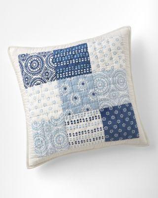 Indigo Blocks Pillow Cover