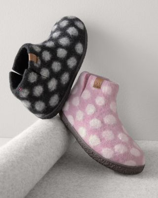 Green Comfort Wool Slipper Boots