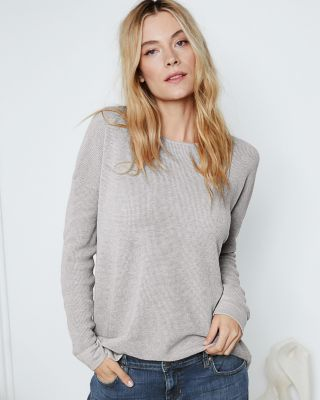 EILEEN FISHER Fine Organic-Cotton & Silk Textured Pullover Sweater