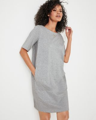 EILEEN FISHER Organic-Cotton Speckled Knit Shift Dress