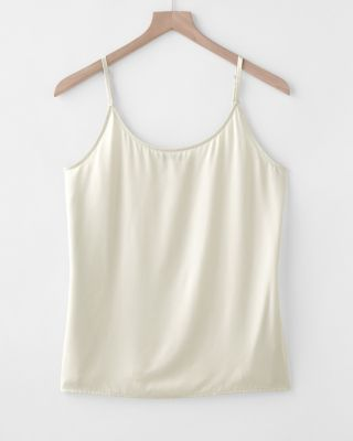 EILEEN FISHER Sand-Washed Silk Charmeuse Camisole