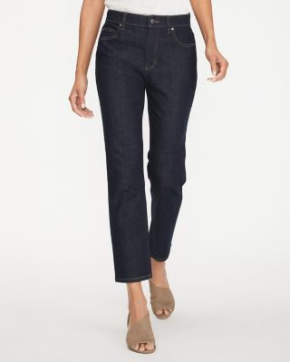 EILEEN FISHER Organic-Cotton Straight Ankle Jeans Petite
