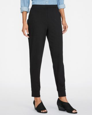 EILEEN FISHER Cotton-Stretch-Jersey Ankle Pants Petite