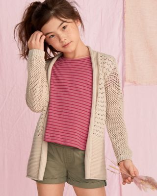 Girls' Organic-Cotton Summer Breeze Cardigan Sweater