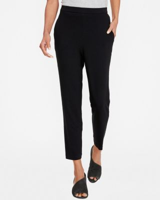 EILEEN FISHER Viscose-Jersey Slouchy Ankle Pants Petite