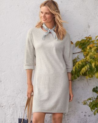 Essential Scoop-Neck Sweater Dress