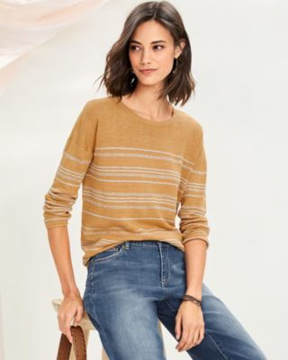Boxy Linen Boatneck Sweater