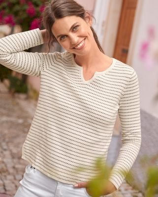 Organic Cotton Jacquard Sweater