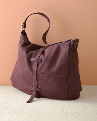 Claudia Suede Hobo Bag