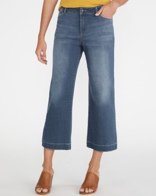 Women's Essential Organic Cotton Wide-Leg Cropped Jeans