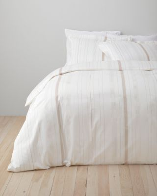 Wrinkle-Resistant Stripe Sateen Duvet Cover