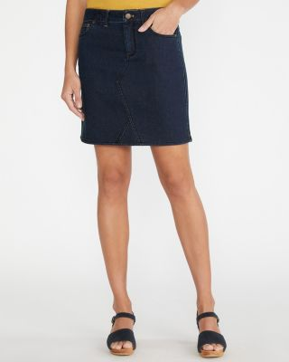 Essential Straight Organic Cotton Denim Skirt