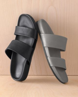 Lena Italian Leather Slides